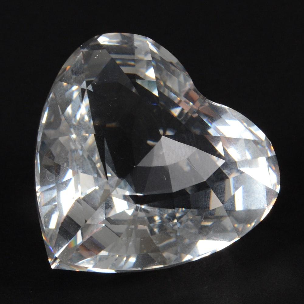 Swarovski Crystal Clear Heart Figurine