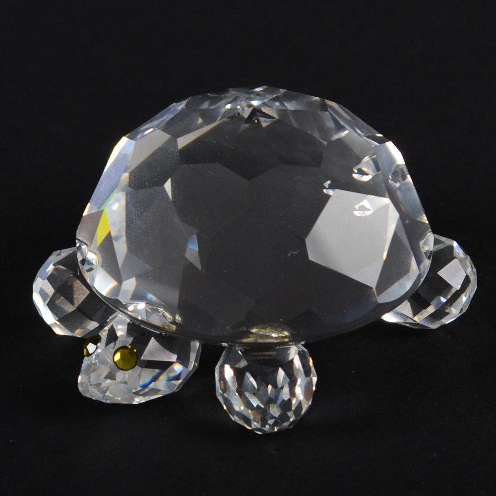 Swarovski Crystal Turtle Figurine