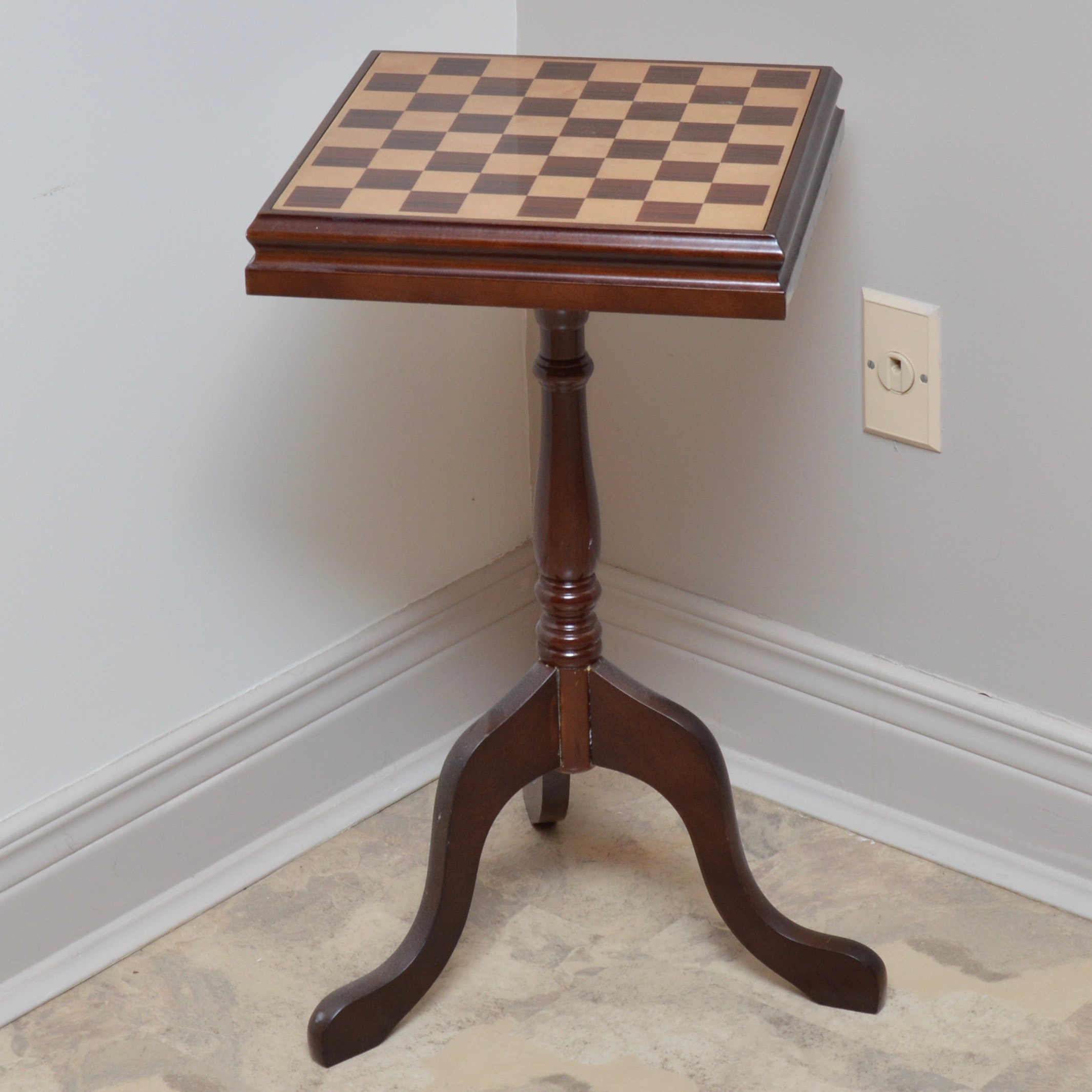Convertible Wood Chess And Checker Table