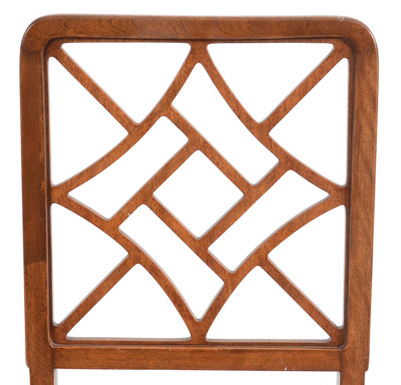 vintage art deco style side chairs ebth. Black Bedroom Furniture Sets. Home Design Ideas