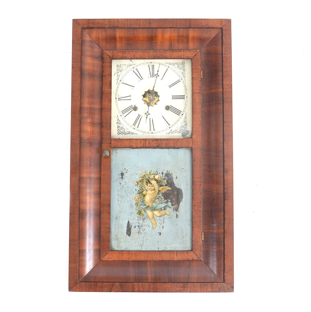 A Vintage Quot Verichron Quot Keywind 31 Day Wall Clock With