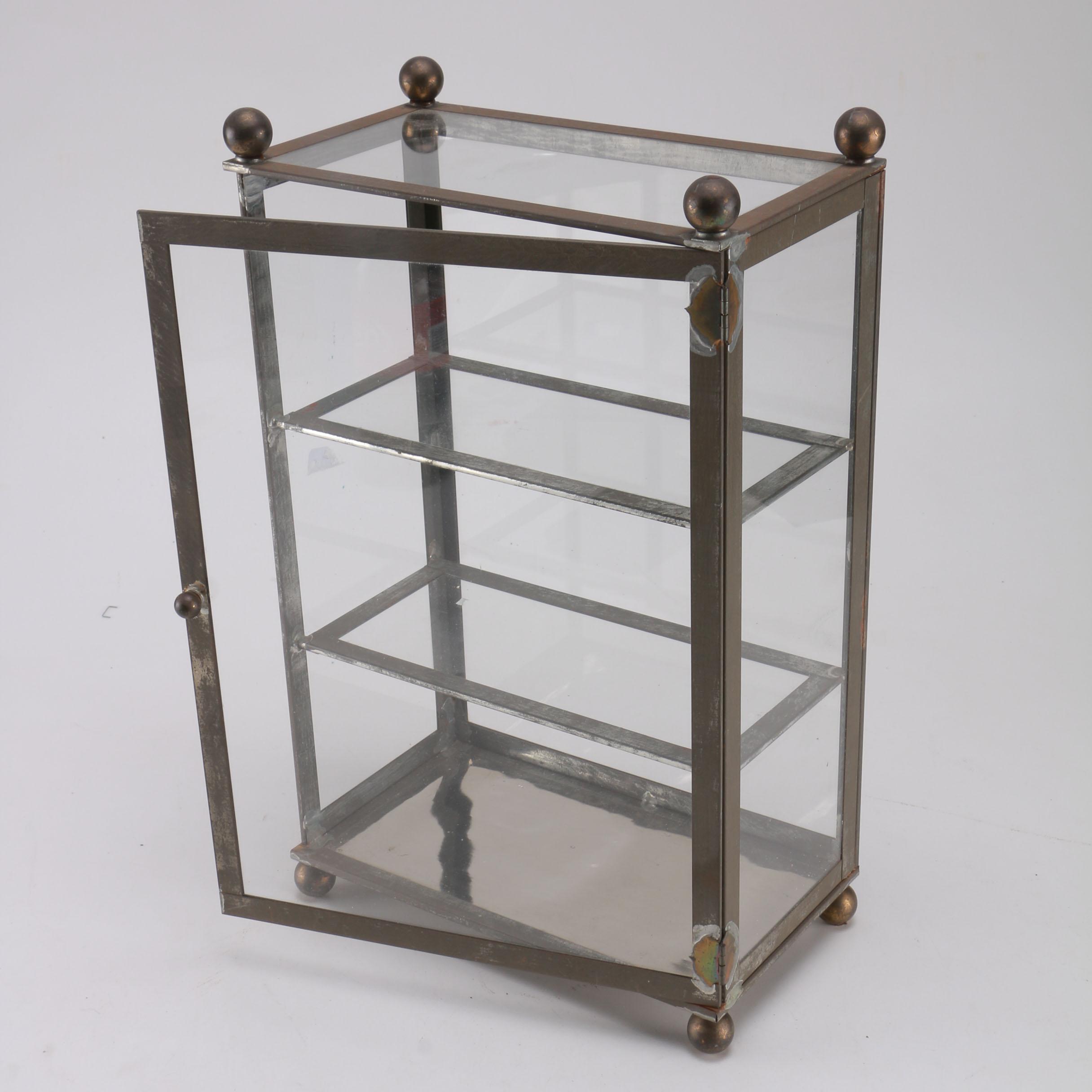 victorian curio cabinet ebth Small Table Top Curio Cabinets Black Corner Curio Cabinet