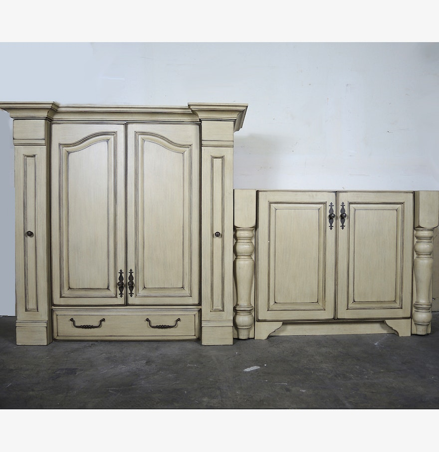 Custom Made Kitchen Cabinet: Custom Made Two-piece Kitchen Pantry Cabinet : EBTH