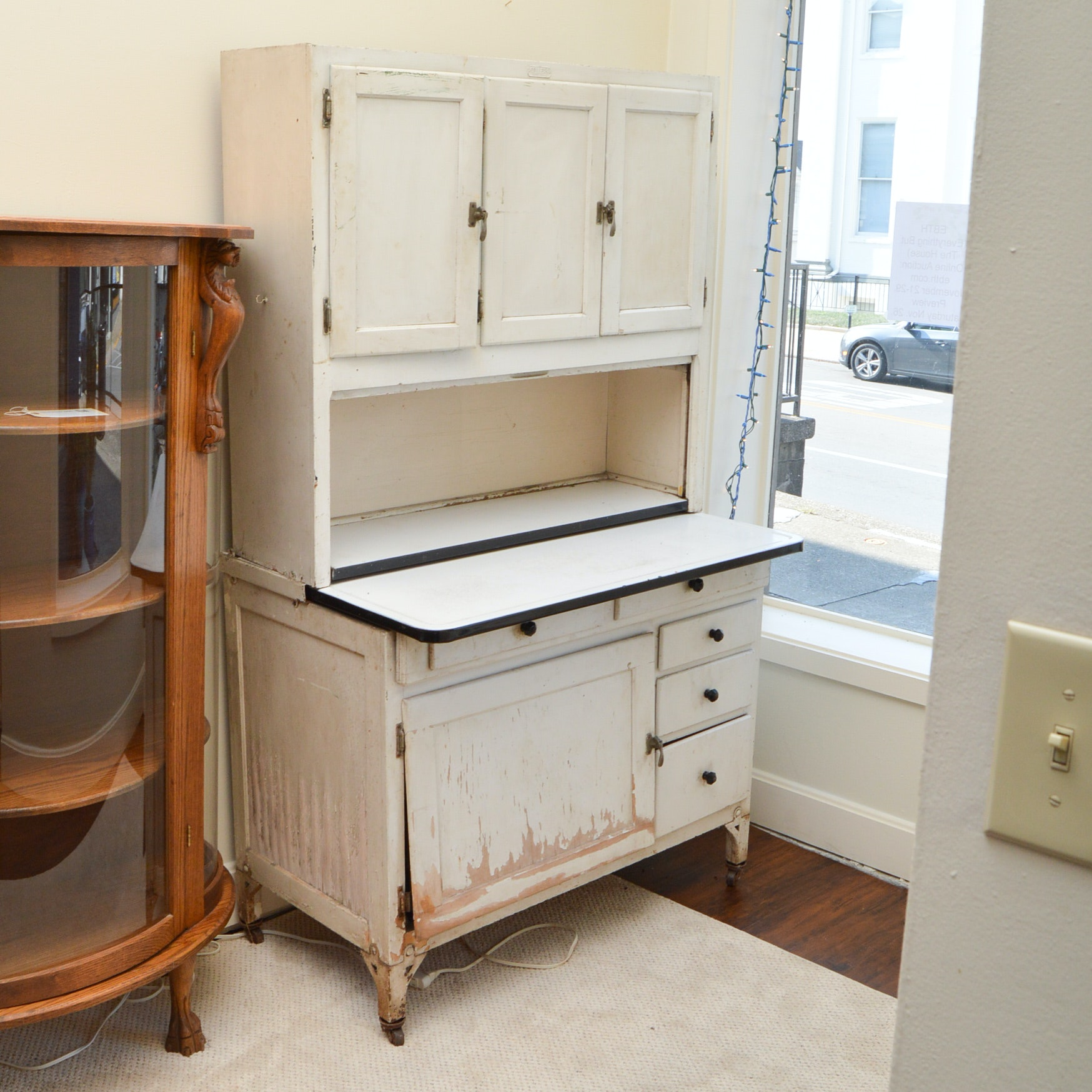 Sellers Kitchen Cabinet: Antique Hoosier Cabinet By Sellers