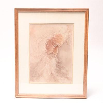 "Deborah Hiatt Signed Lithography Print, ""Infinite Beauty ..."