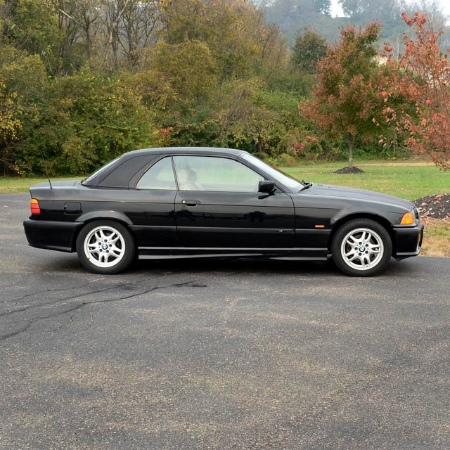 black 1999 bmw 328i convertible with black removable hardtop : ebth
