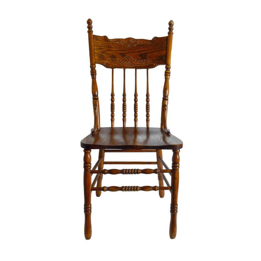 W Furniture: HW Hull & Sons Solid Oak Dining Chair : EBTH
