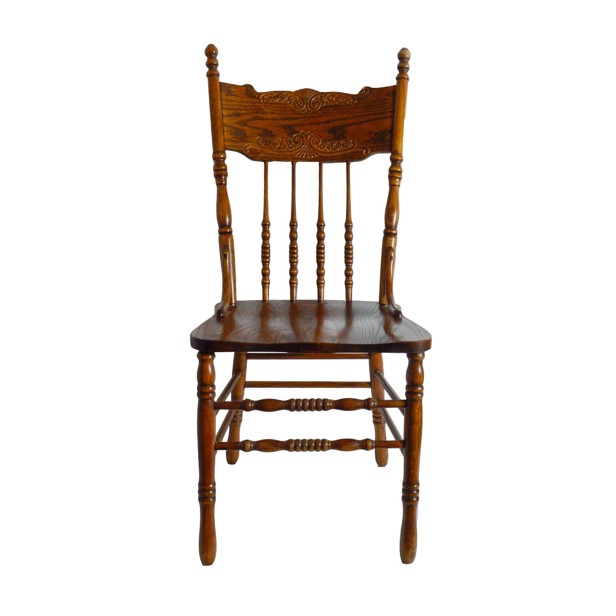 HW Hull U0026 Sons Solid Oak Dining Chair ...