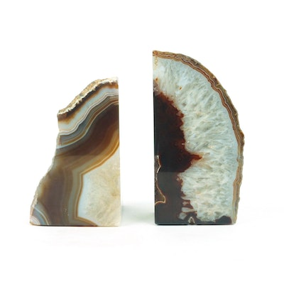 Pair of Agate Book Ends