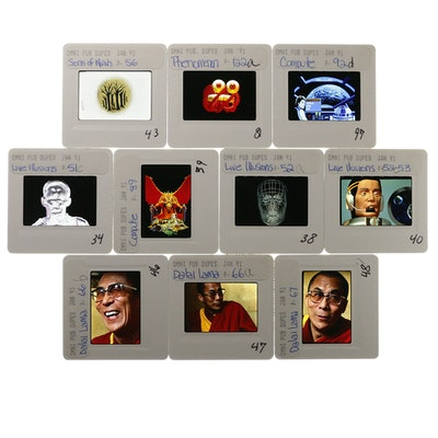 "Collection of ""Omni"" Magazine Dalai Lama 1991 35mm Slides"