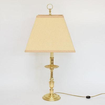 Vintage floor lamps retro table lamps antique lighting for Baldwin brass floor lamp shades