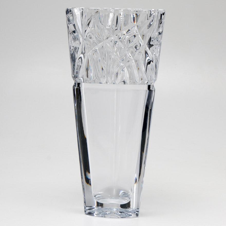 Mikasa Bali Crystal Vase Ebth