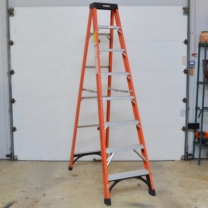 8 aluminum husky step ladder ebth 8 aluminum husky step ladder sciox Images