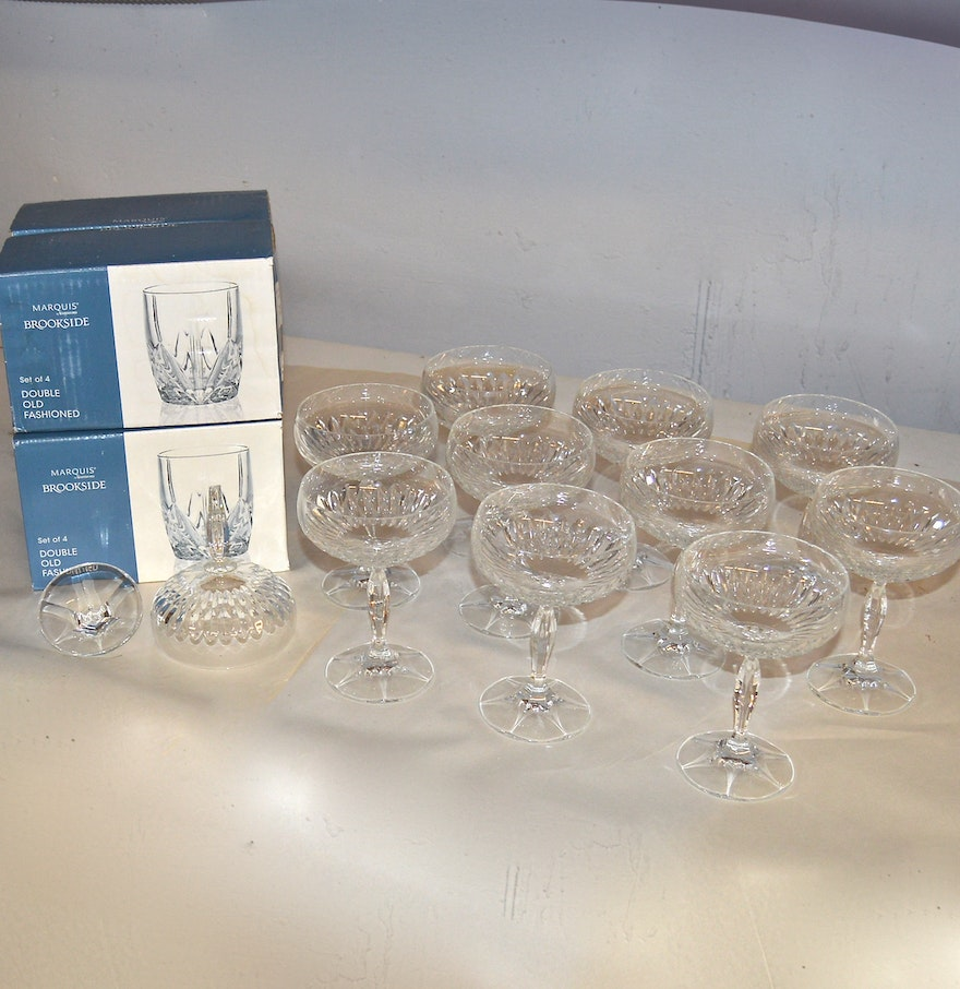 Double Strength Glass Cutting : Waterford double old fashioned glasses and cut glass