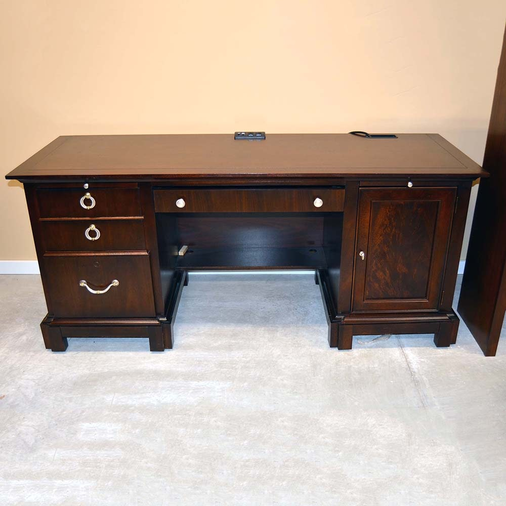 Stanley Furniture Computer Credenza With Hutch ...