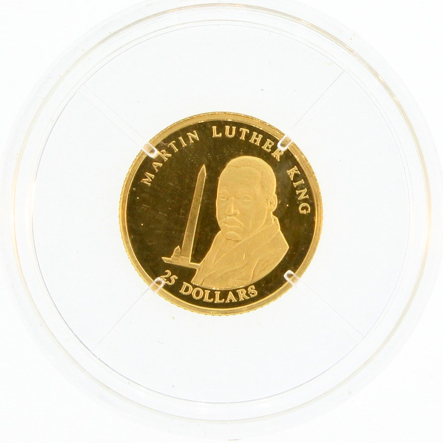 Martin Luther King 25 Dollar Republic Of Liberia Coin EBTH