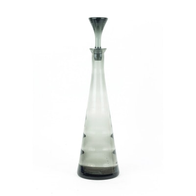 Black Decanter with a Conical Cap