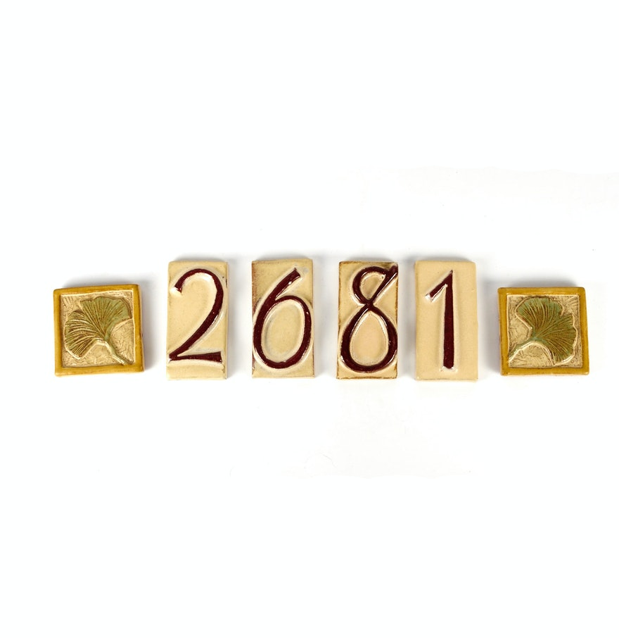 Decorative House Numbers Decorative Glazed Ceramic House Numbers And Tiles Ebth