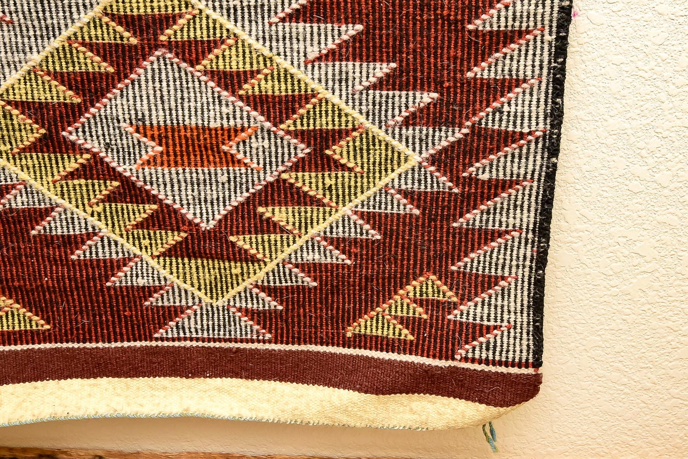Navajo Rug With A Handcrafted Wood Hanger Ebth