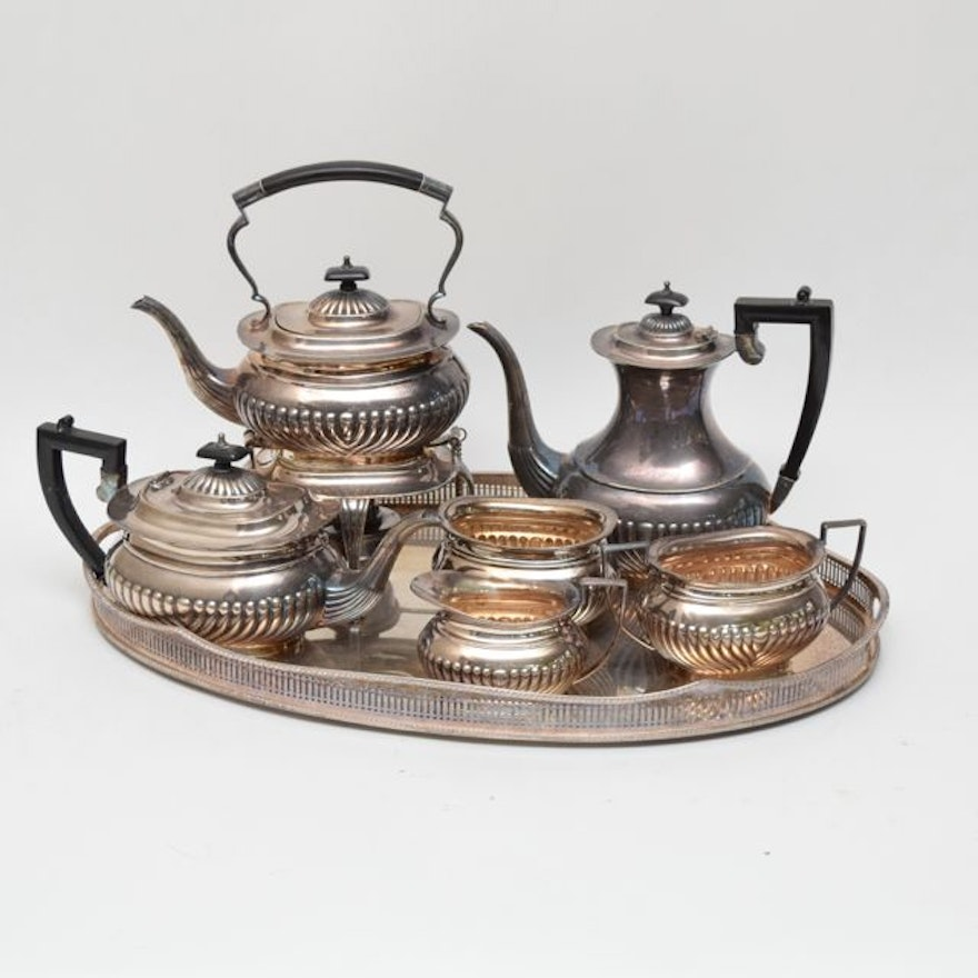 a485b04bf043d Antique Seven Piece Sheffield William Adams EPNS Silver Plate Tea and Coffee  Set   EBTH