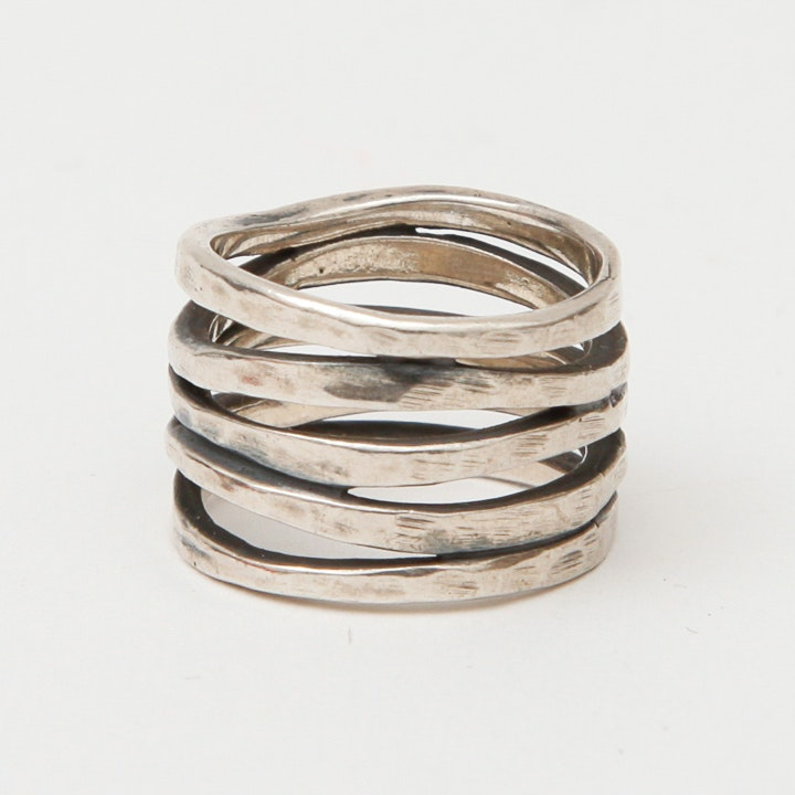 sterling silver multi band ring by avery ebth
