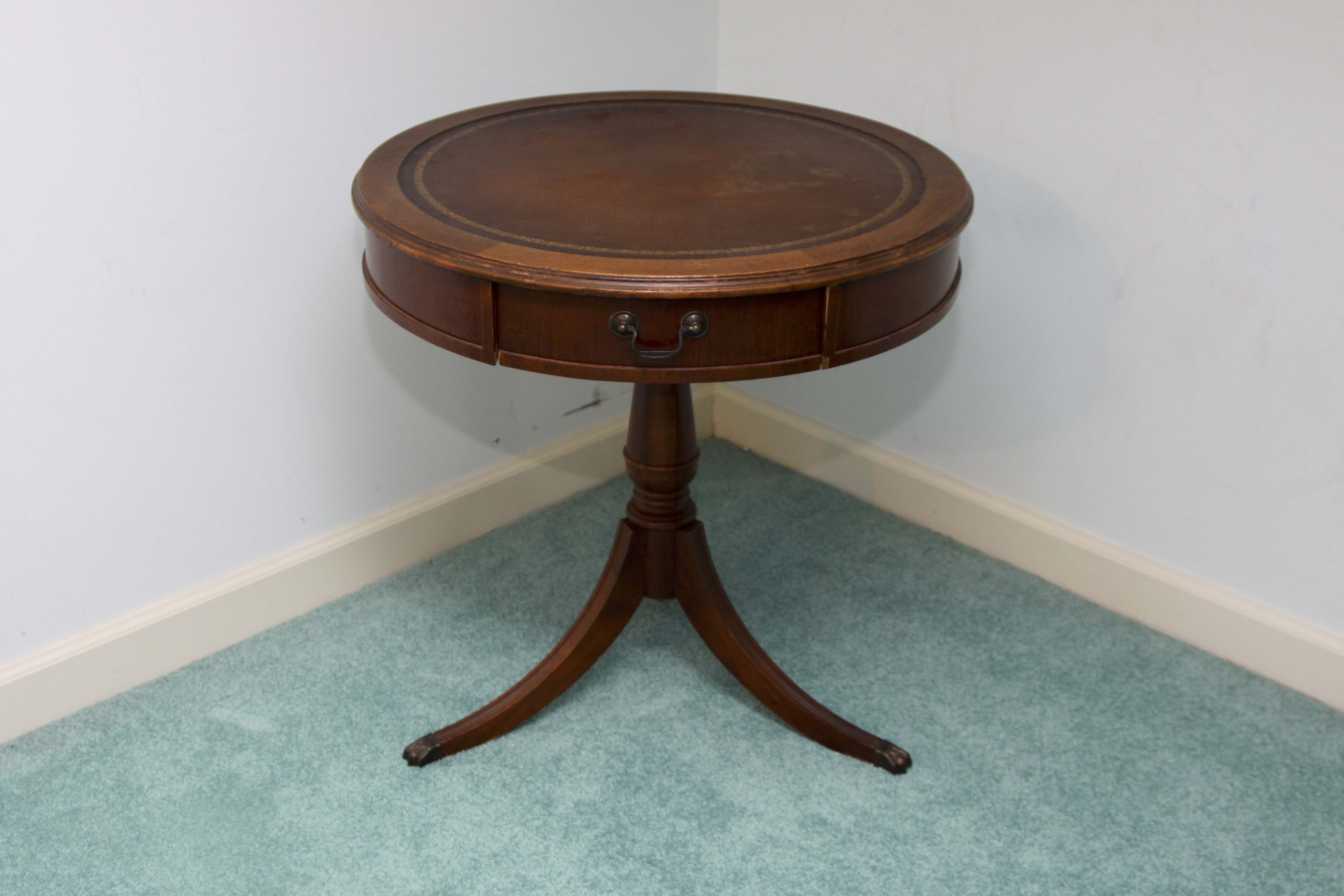 Vintage Duncan Phyfe Style Drum Table : EBTH