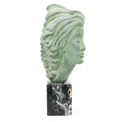 Peggy Mach Reproduction Female Bust Sculpture