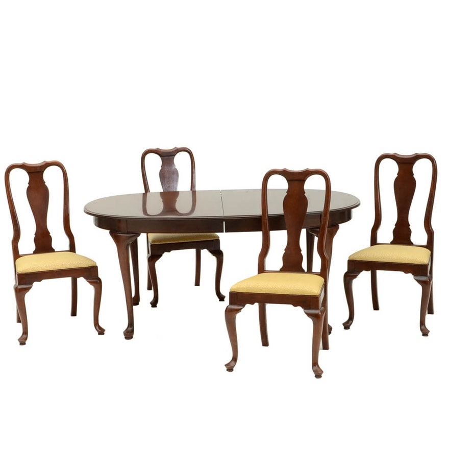 Cherry Table And Chairs: Cherry Oval Dining Table And Chairs : EBTH