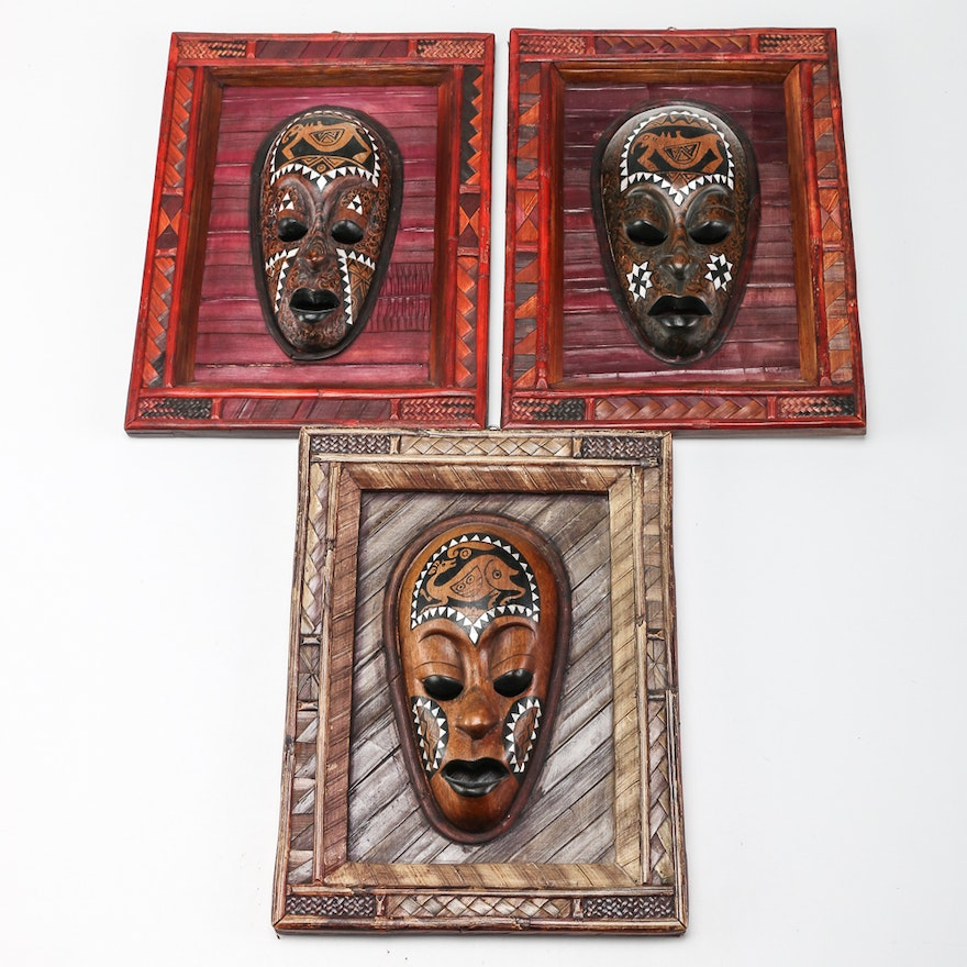 African Inspired Mask Wall Decor