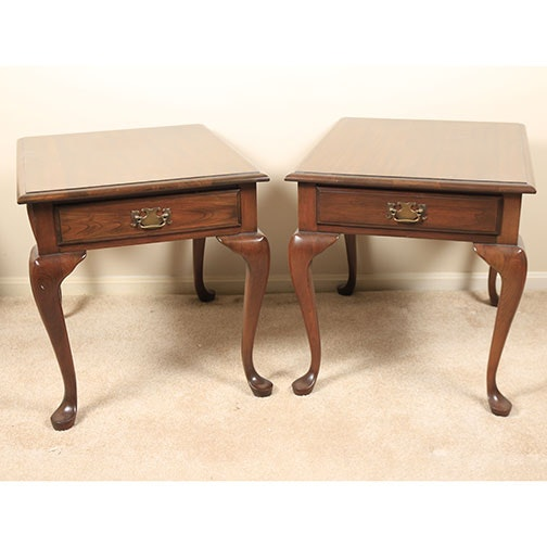 Late 20th Century Queen Anne Style Side Tables By Pennsylvania House