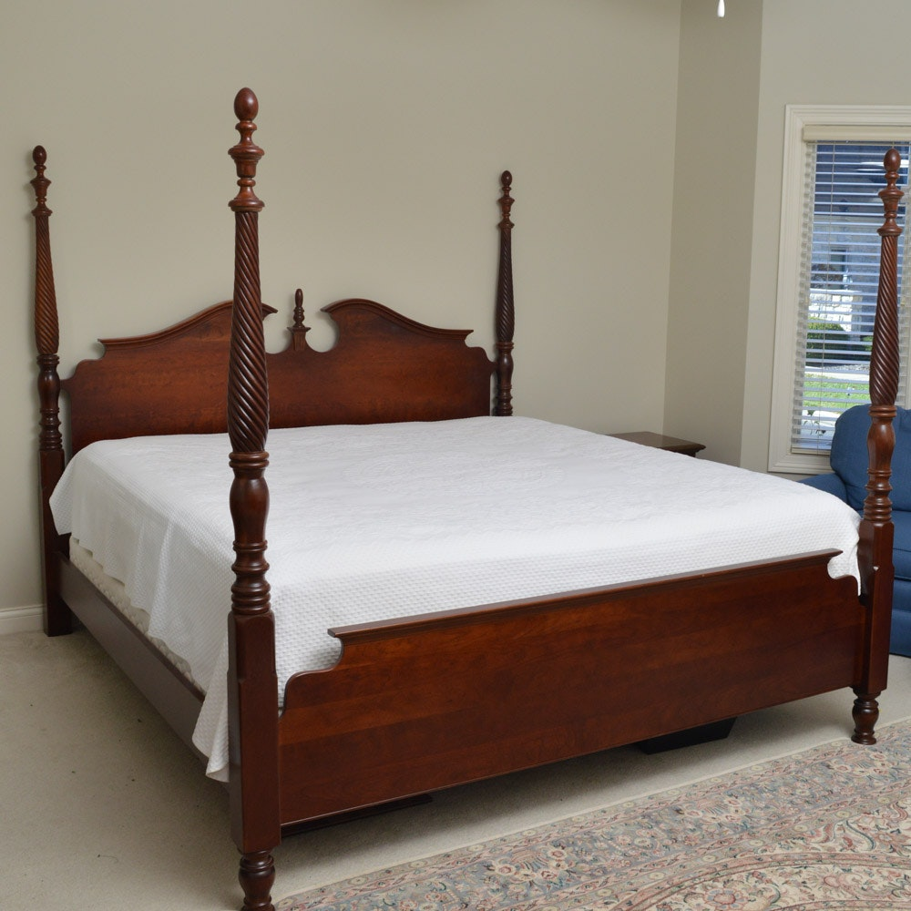 Pennsylvania House Cherry Four Poster King Size Bed ...