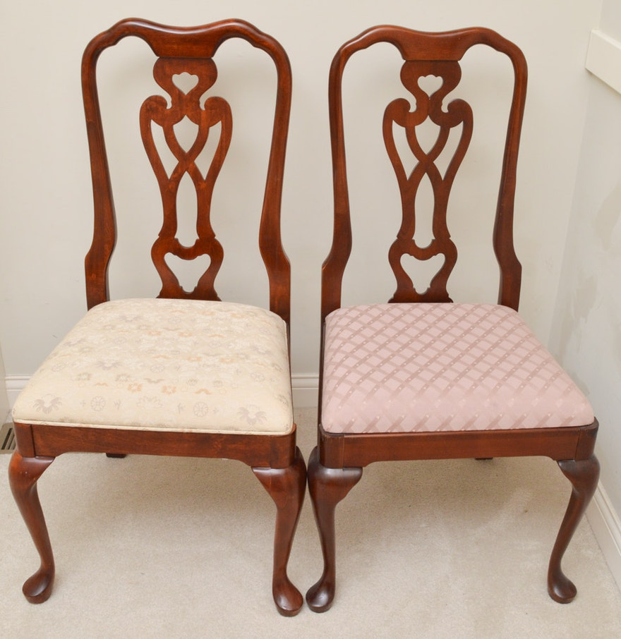 Pair Of Pennsylvania House Cherry Dining Chairs : EBTH