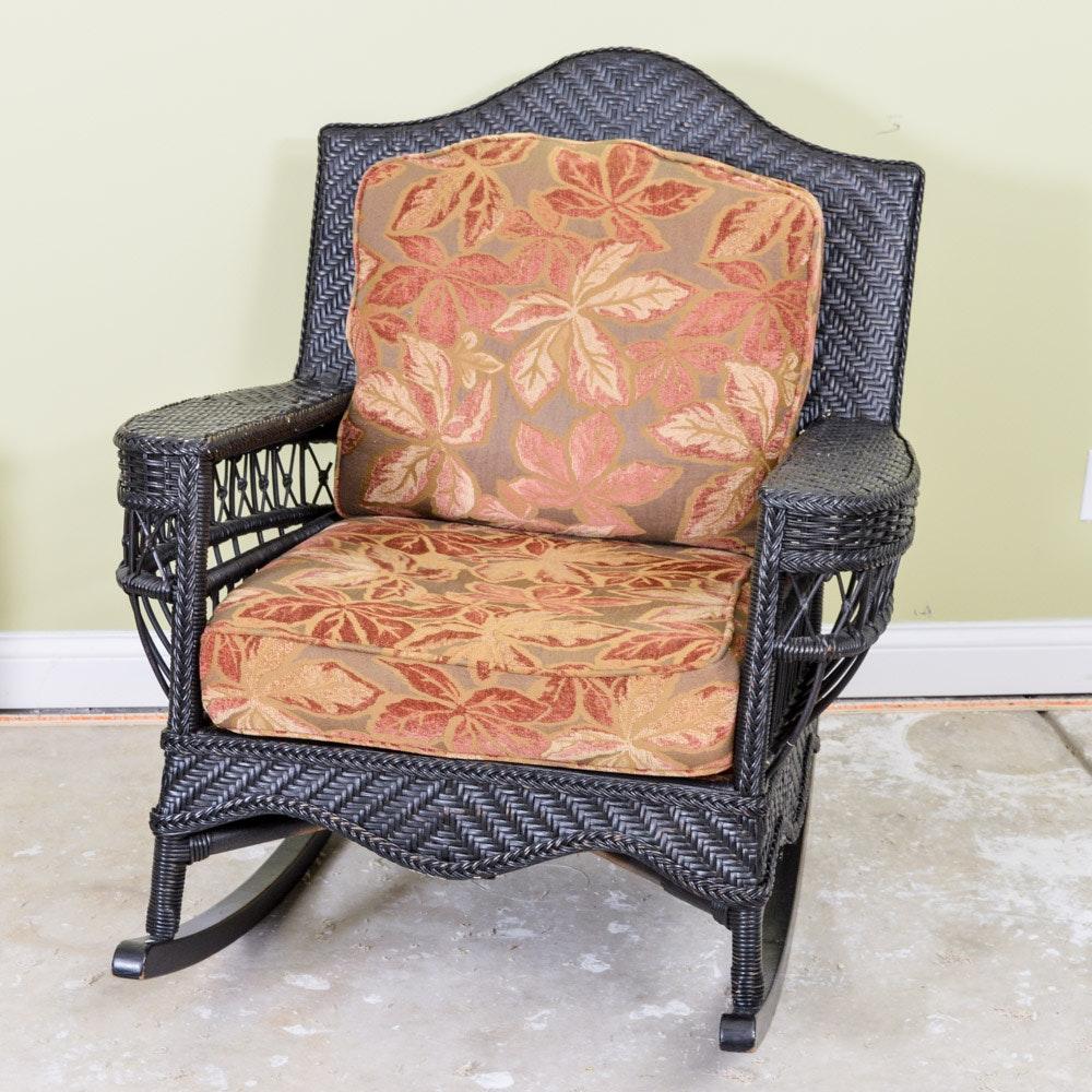 house wicker rocking chair