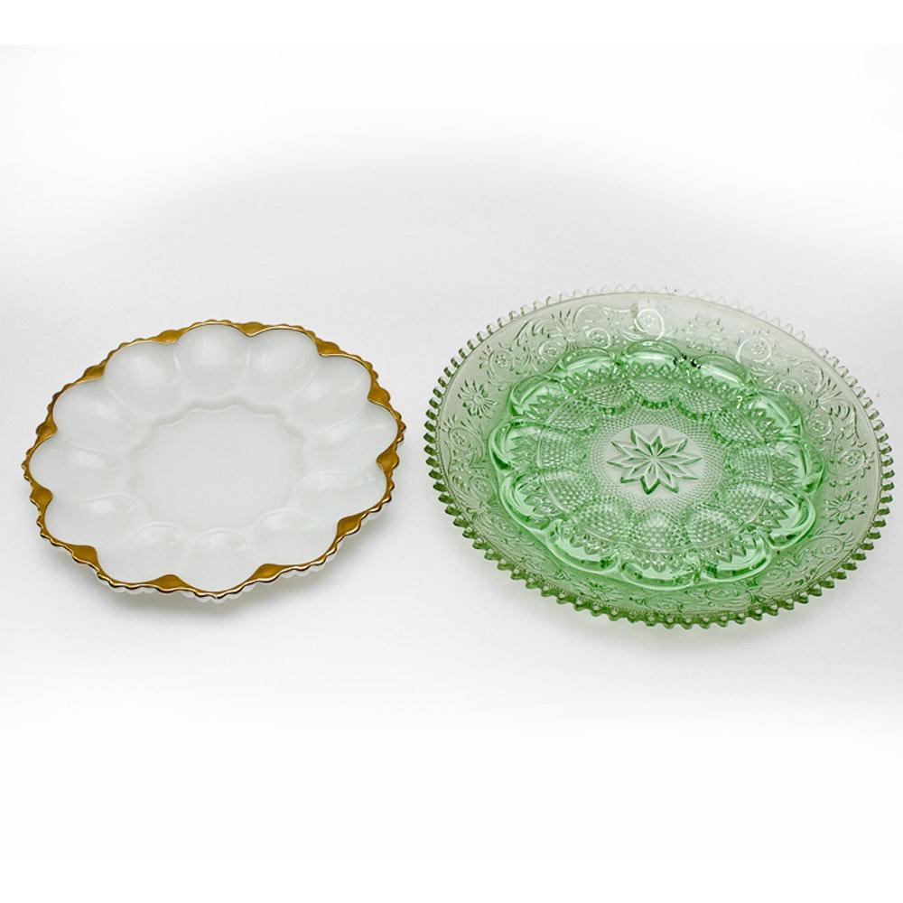 Pair of Vintage Deviled Egg Plates ...  sc 1 st  EBTH.com & Pair of Vintage Deviled Egg Plates : EBTH