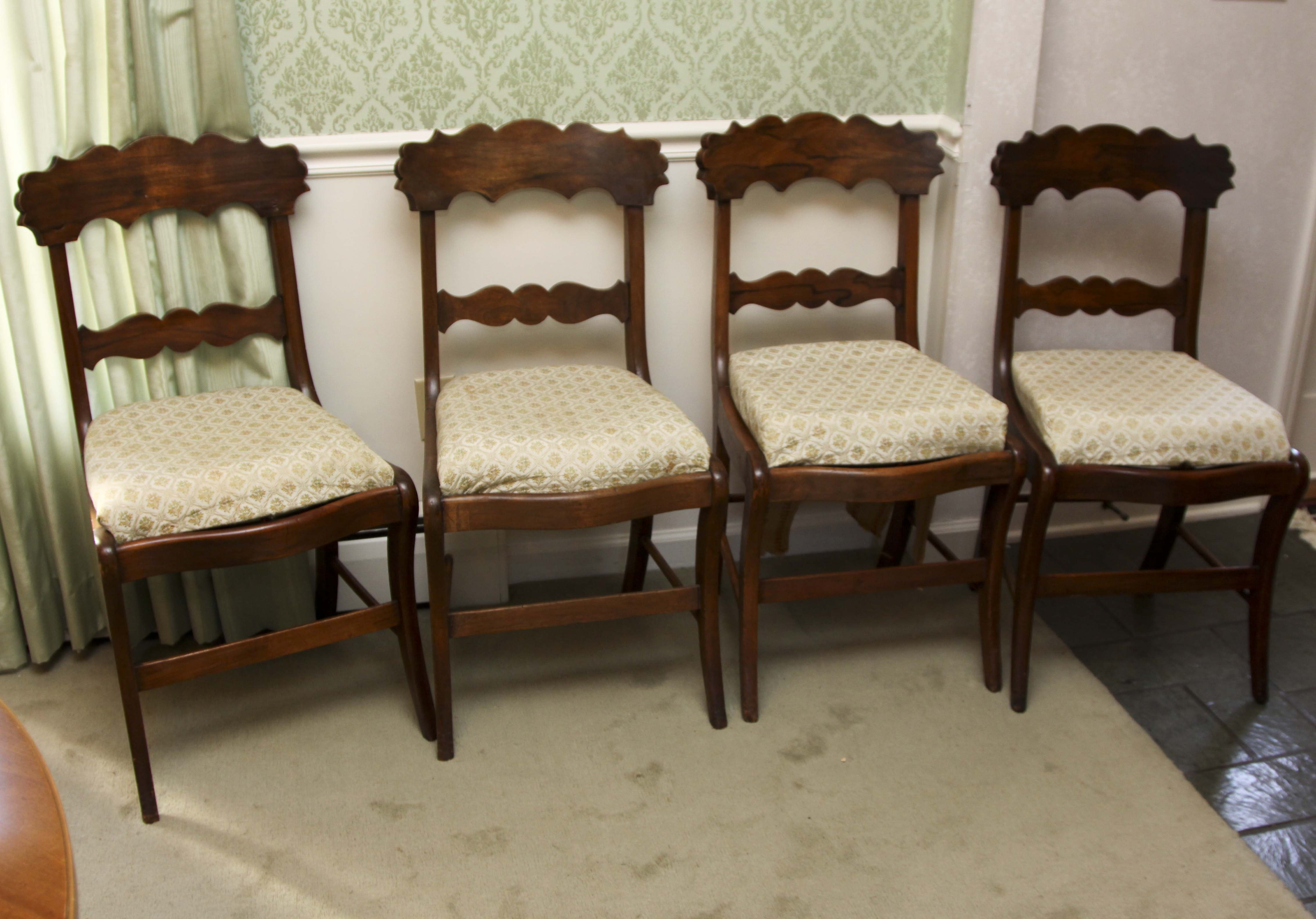 Marvelous Antique Wood Dining Chairs
