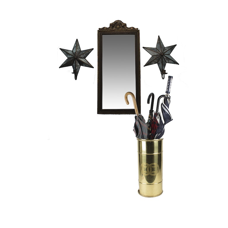 Mirrored Wall Sconces For Candles : Antiqued Mirrored Candle Wall Sconces : EBTH
