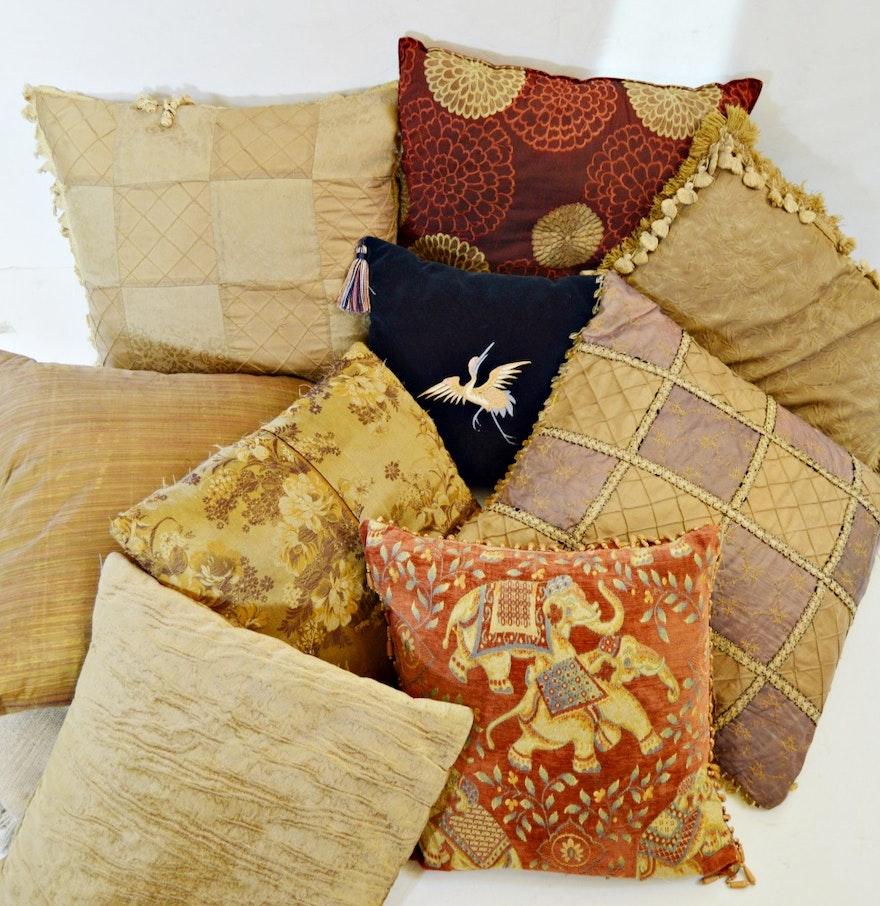 Decorative Pillows With Beading : Decorative Beaded and Silk Pillows : EBTH