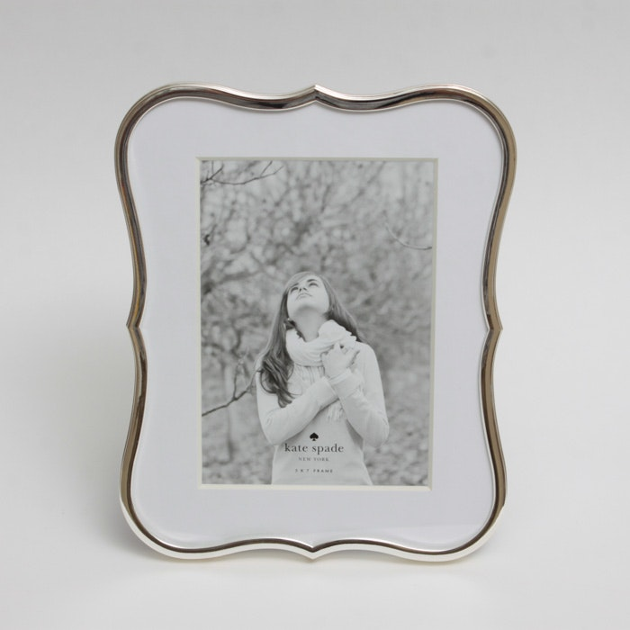 Kate Spade Silver Plate Crown Point Picture Frame Ebth