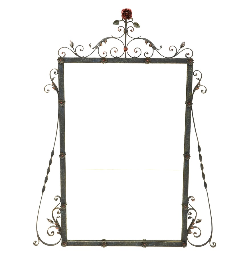 Wrought Iron Wall Decor With Wood Frame : Wall mirror with wrought iron frame ebth