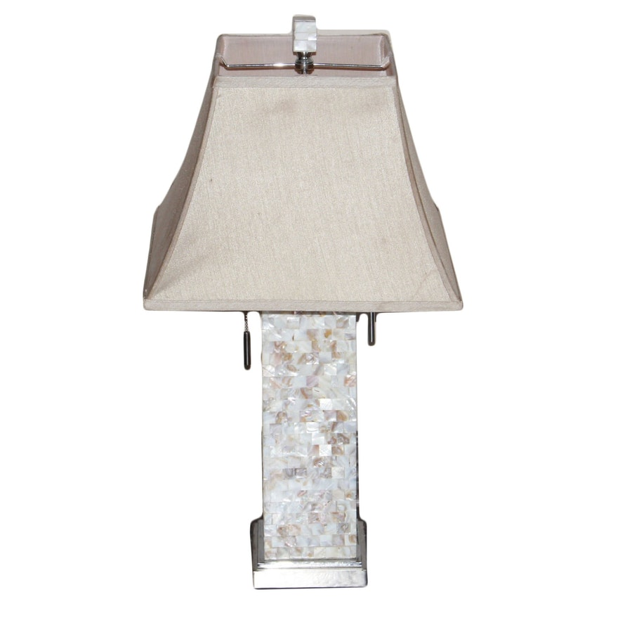 Mother Of Pearl Accent Lamp: Faux Mother Of Pearl Tile Table Lamp : EBTH