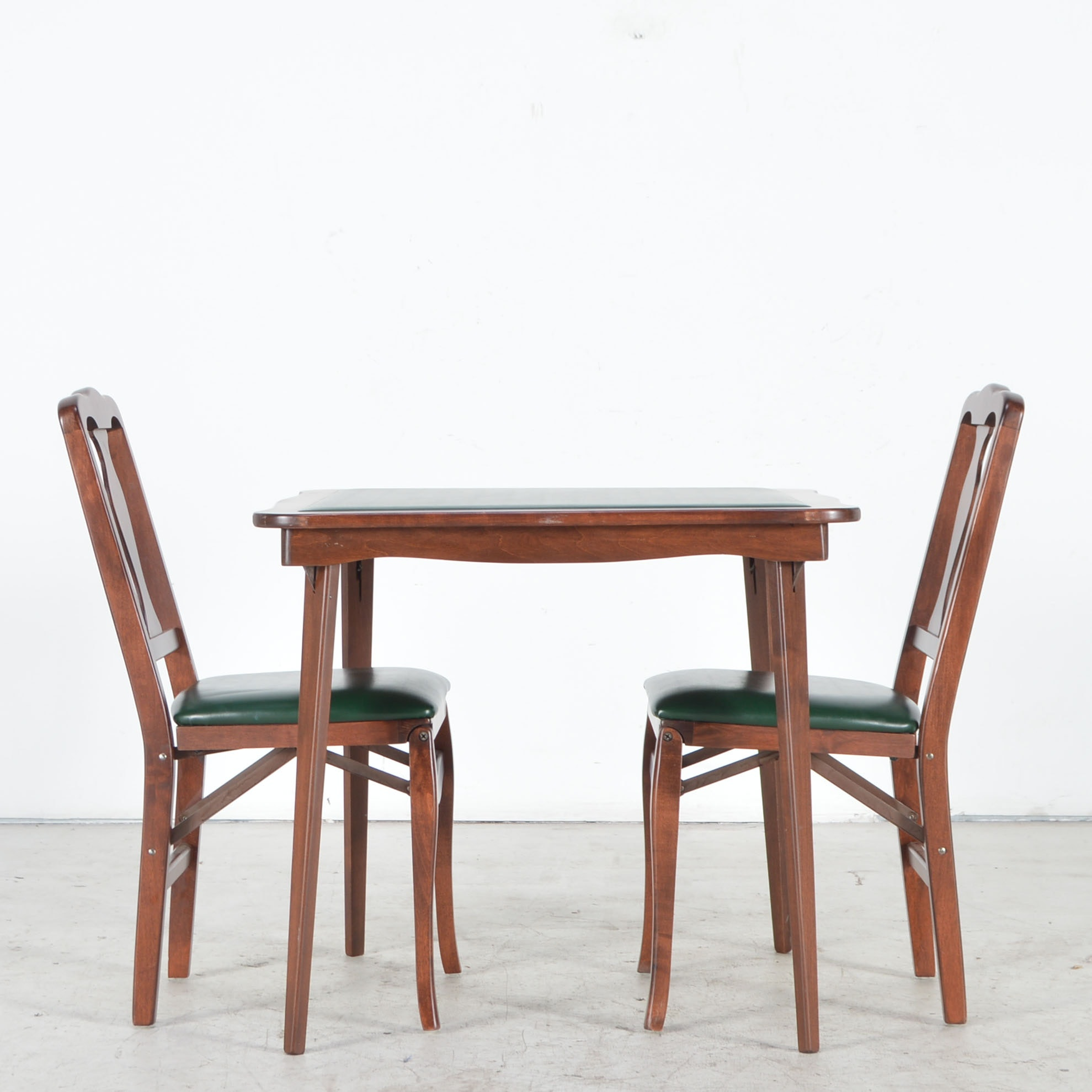 """Vintage Cosco """"fashionfold"""" Chairs and Folding Card Table"""