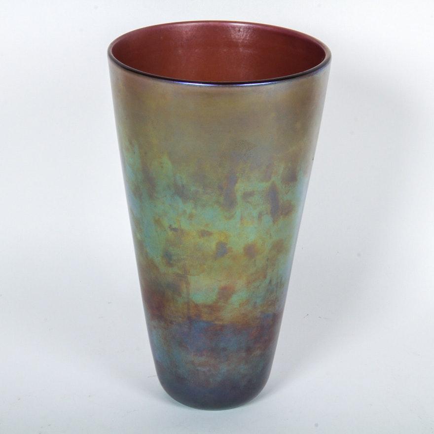Rainbow Glass Vase Ebth