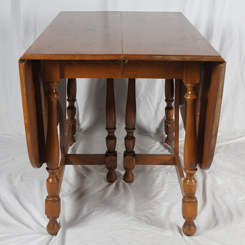 Ethan Allen Drop Leaf Dining Table Ebth