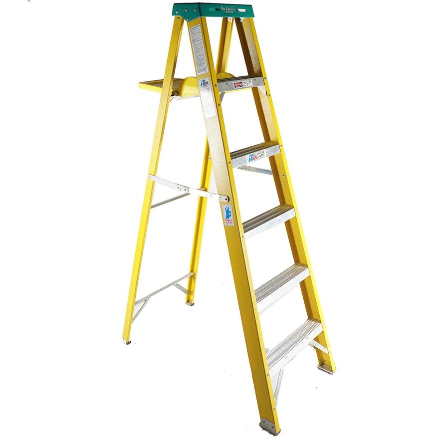 All American Six Foot Metal A Frame Ladder : EBTH