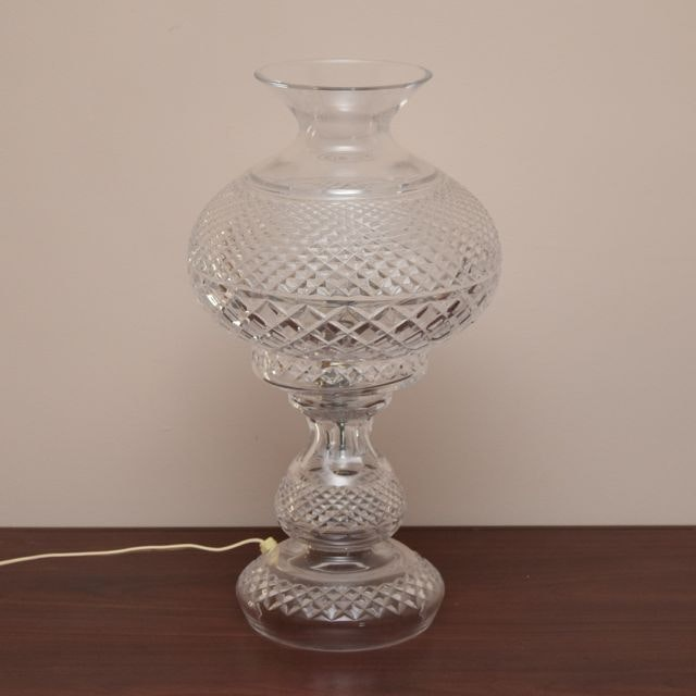 Vintage Crystal Table Lamp Ebth