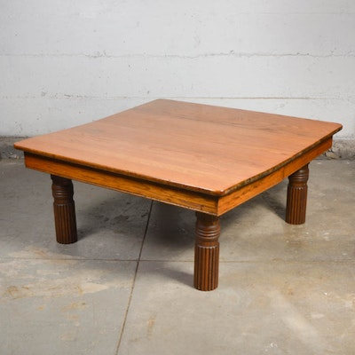 Broyhill Traditional Oak Coffee Table Ebth