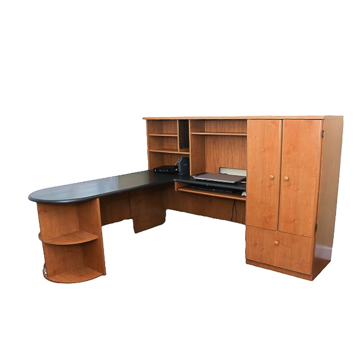 Wraparound Composite Wood Office Desk ...