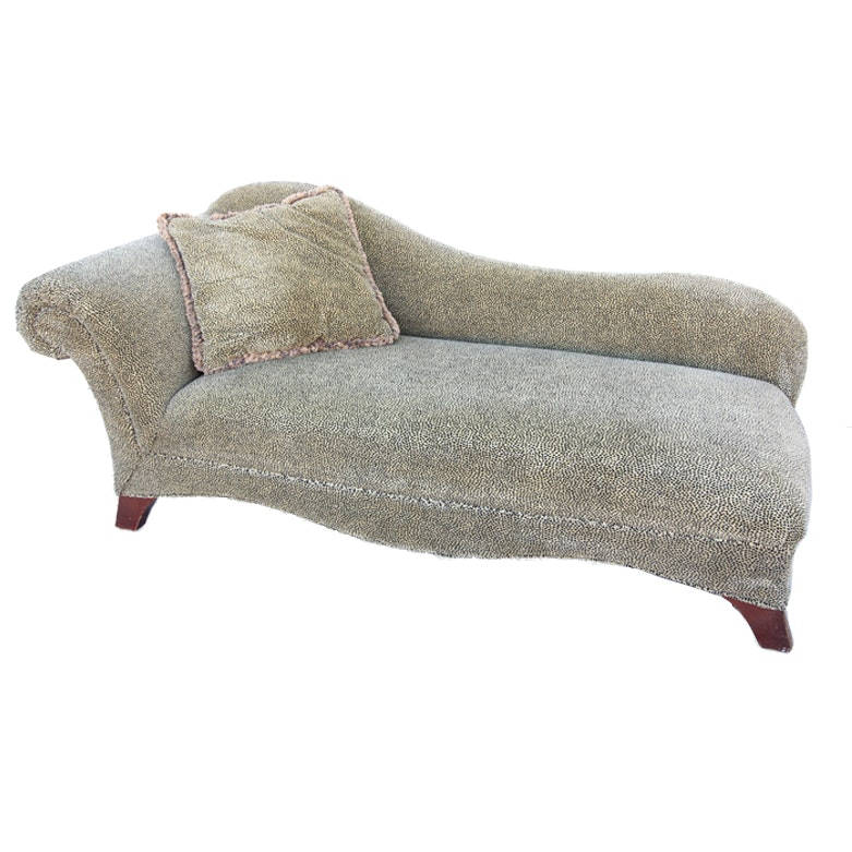 Contemporary Cheetah Print Chaise Lounge ...  sc 1 st  Everything But The House : cheetah chaise - Sectionals, Sofas & Couches