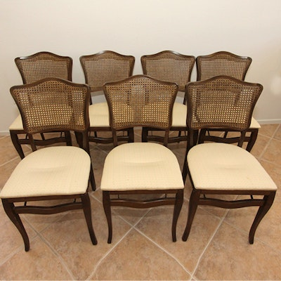 Vintage Provincial Louis XV Style Caned Club Chairs EBTH