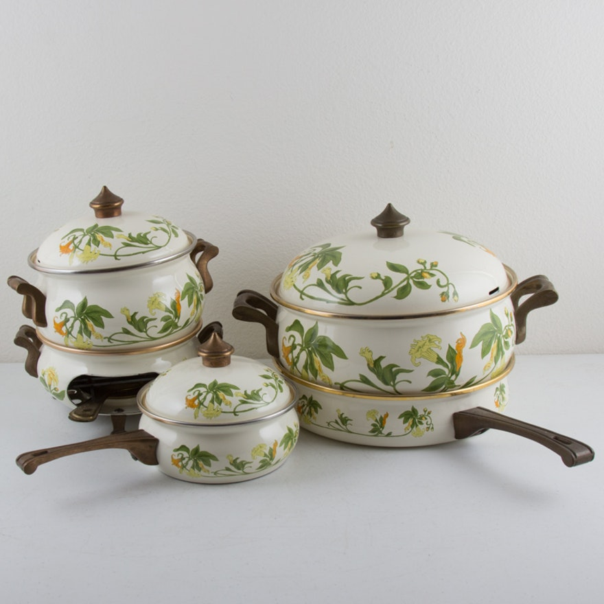 is it safe to use vintage enamel cookware